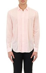Saint Laurent Men's Voile Tuxedo Shirt Red
