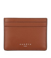 Sandro Leather Card Holder Red