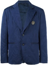 Versace Two Button Blazer Blue