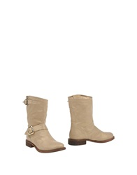 Twin Set Simona Barbieri Ankle Boots Sand
