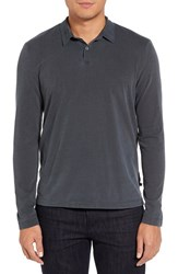 James Perse Men's Trim Fit Long Sleeve Polo