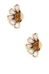 Betsey Johnson Half Daisy Stud Earrings White