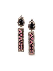Shourouk Beaded Detailing Earrings Metallic