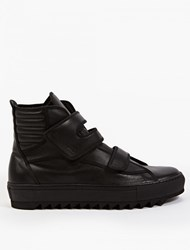 Raf Simons High Top Sneakers With Velcro Straps