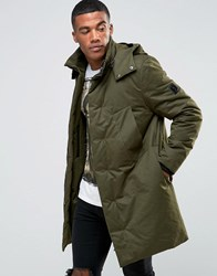 Religion Parka With Packable Peaked Hood Khaki Green