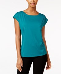 Ideology Mesh Back Top Only At Macy's Moonlit Teal