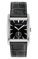 Movado Heritage Leather Strap Watch 41Mm
