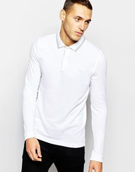 Dkny Polo Shirt Herringbone And Chainstitch White Beige