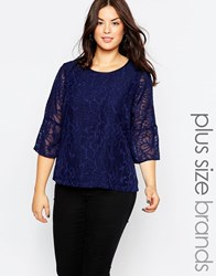 Junarose Long Sleeve Lace Top Aop