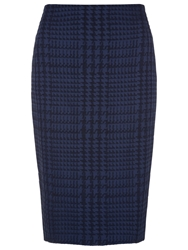 Planet Jacquard Pencil Skirt Navy