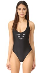 Milly Resting Beach Face Swimsuit Black