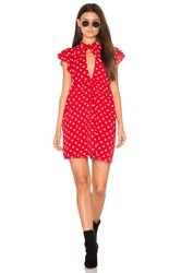 Motel Clover Dress Red