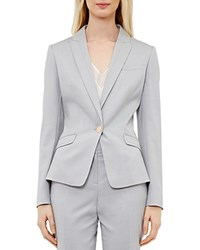 Ted Baker Topstitch Detail Blazer Light Gray