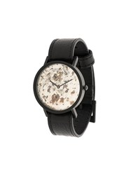 South Lane Avant Unique Watch Stainless Steel Calf Leather Black