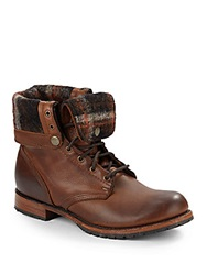 Walk Over Ian Wool Lined Leather Boots Chocolate