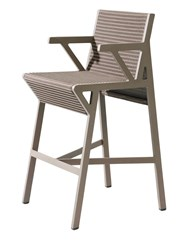 Kettal Vieques Nido D'ape Bar Stool Brown