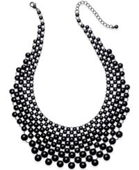 Bar Iii Jet Tone Shiny Bubble Necklace