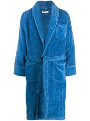 Orlebar Brown Cotton Wrap Coat Blue