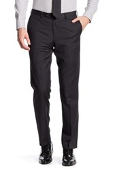 Broletto Wide Leg Flat Front Wool Pant 30 34 Inseam Gray