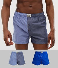 Levi's 2 Pack Split Woven Boxers In Blue