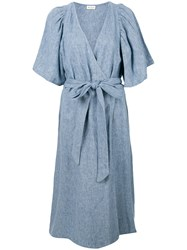 Masscob Chambray Dress Blue