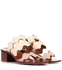 Chloe Leather Sandals Neutrals