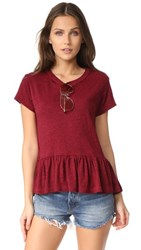 The Great Great. Ruffle Tee Red Heather
