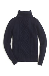 J.Crew Women's Cambridge Cable Turtleneck Sweater