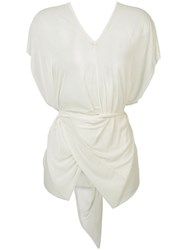 Lost And Found Ria Dunn Draped Top White