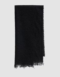Destin Hand Finished Scarf In Black
