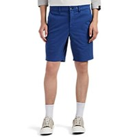Rag And Bone Cotton Flat Front Shorts Blue