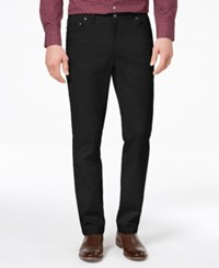Tasso Elba Men's Classic Fit Stretch Pants Created For Macy's Black