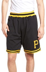 Mitchell And Ness Men's Playoff Win Pittsburgh Pirates Mesh Warm Up Shorts