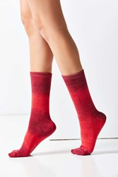 Out From Under Ombre Crew Sock Red