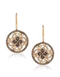 Le Vian 0.94 Tcw Diamonds And 14K Rosegold Chocolatier Medallion Earrings Rose Gold