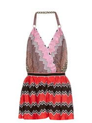 Missoni Mare Chevron Knit Playsuit Pink Multi