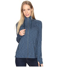 Kuhl Mova Hoodie Blue Depths Heather Women's Sweatshirt Gray