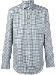 Etro Plaid Button Down Shirt Green