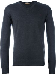 Etro V Neck Jumper Grey