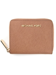 Michael Michael Kors All Around Zipper Wallet Nude And Neutrals