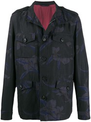 Etro Concealed Zipped Floral Print Coat 60
