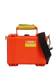 Heron Preston Plastic Tool Box Top Handle Bag Orange