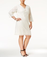 Styleandco. Style Co. Plus Size Lace Peasant Dress Only At Macy's Warm Ivory