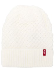 Levi's Knitted Beanie White