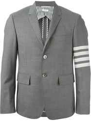 Thom Browne Striped Arm Blazer Metallic