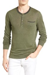 Boss Orange Men's Kronost Linen Henley