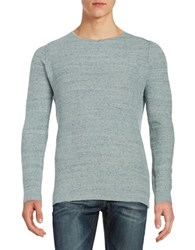 Selected Textured Knit Sweater Blue Indigo