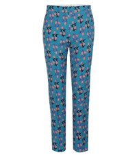 Etro Printed Trousers Blue