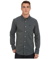Rvca That'll Do Oxford Long Sleeve Iron Men's Long Sleeve Button Up Brown