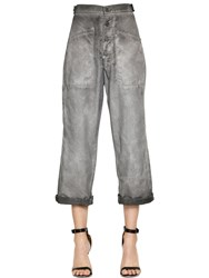 Rta Button Front Coated Cotton Pants
